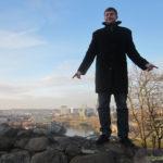 Павел на фоне Вильнюса